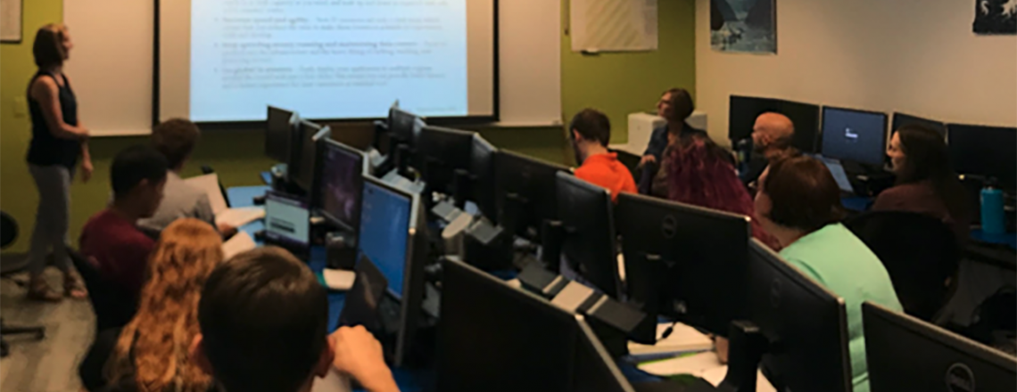 Metropolitan State University classroom  Forecasting Lab course.