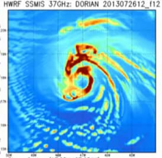 HWRF satellite TC Dorain